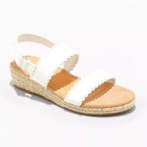 NWT Cat & Jack Girls' Espadrille Wedge Sandals